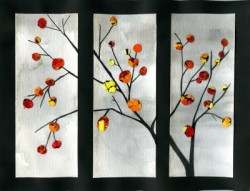 Eggshell Art - Fall Tree