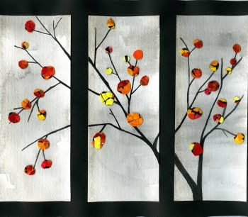 Eggshell Art – Fall Tree