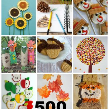Over 500 Fall Crafts & Recipes perfect for kids! Lots of fun ideas for harvest and fall festival, fall carnivals and just plain autumn fun crafting.