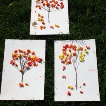 Fall Popcorn Trees