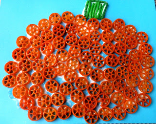Glittered Pasta Pumpkin