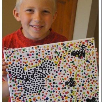Hidden Mickey Crayon Pointillism Art