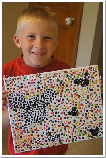 Hidden Mickey Crayon Pointillism Art