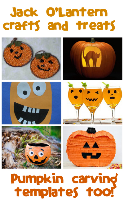 Jack o'Lantern Crafts, Recipes & Carving Templates - Fun Family Crafts