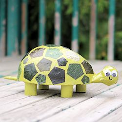 Paper Mache Patchwork Turtle Fun Family Crafts