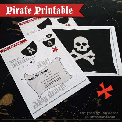 Pirate Printable Eye Patch and Pirate Flag