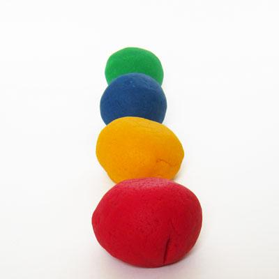 Homemade Colored Play Dough
