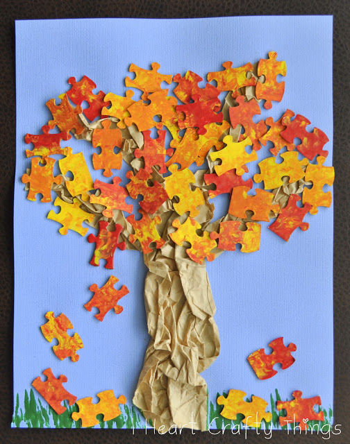 Puzzle Piece Tree | Fun Family Crafts