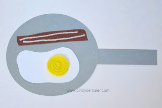 Bacon and an Egg with a Yellow Yarn Yolk