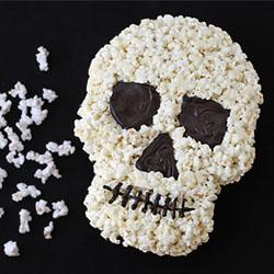 White Chocolate Popcorn Skull