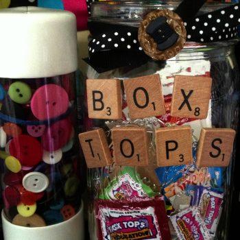 Box Tops Storage Jar