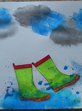 Splish Splash Rain Art