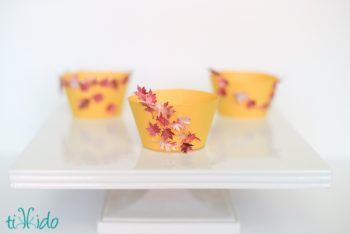 Fall Leaf Cupcake Wrappers