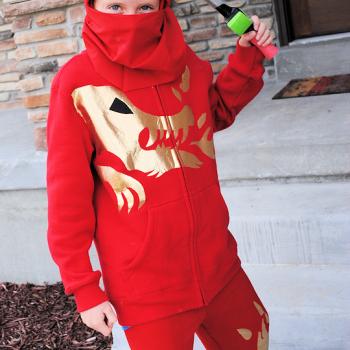No Sew Ninja Costume