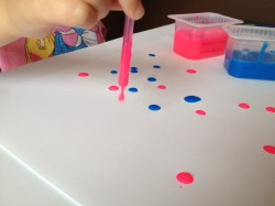 Drip Painting with Straws