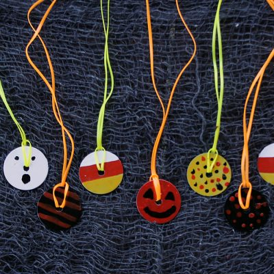 halloween school craft ideas washer necklace family crafts 4622