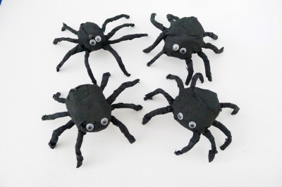 Crepe Paper Spiders