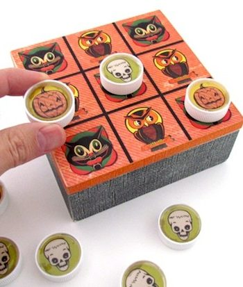 Upcycled Halloween Tic Tac Toe