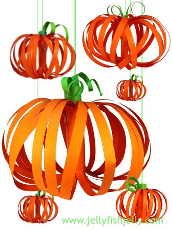 Paper Pumpkin Lanterns