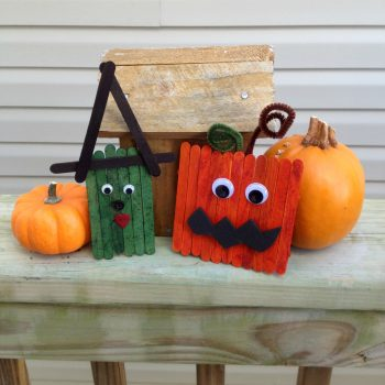 Popsicle Stick Halloween Spooks
