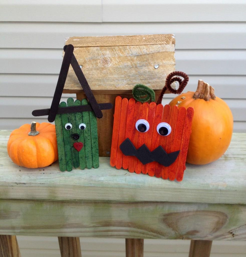 Popsicle Stick Halloween Spooks