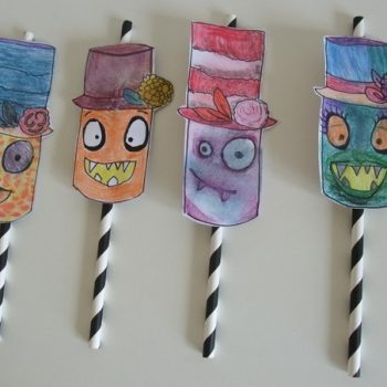 Monster Straw Topper Printable