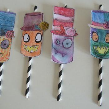 Monster Straw Topper Printable