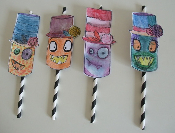 alisa-burke-inspired-monster-straw-toppers