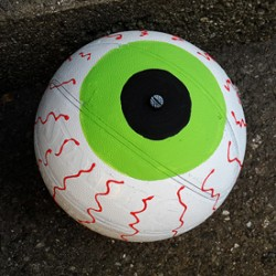 Upcycled Basketball Eyeball