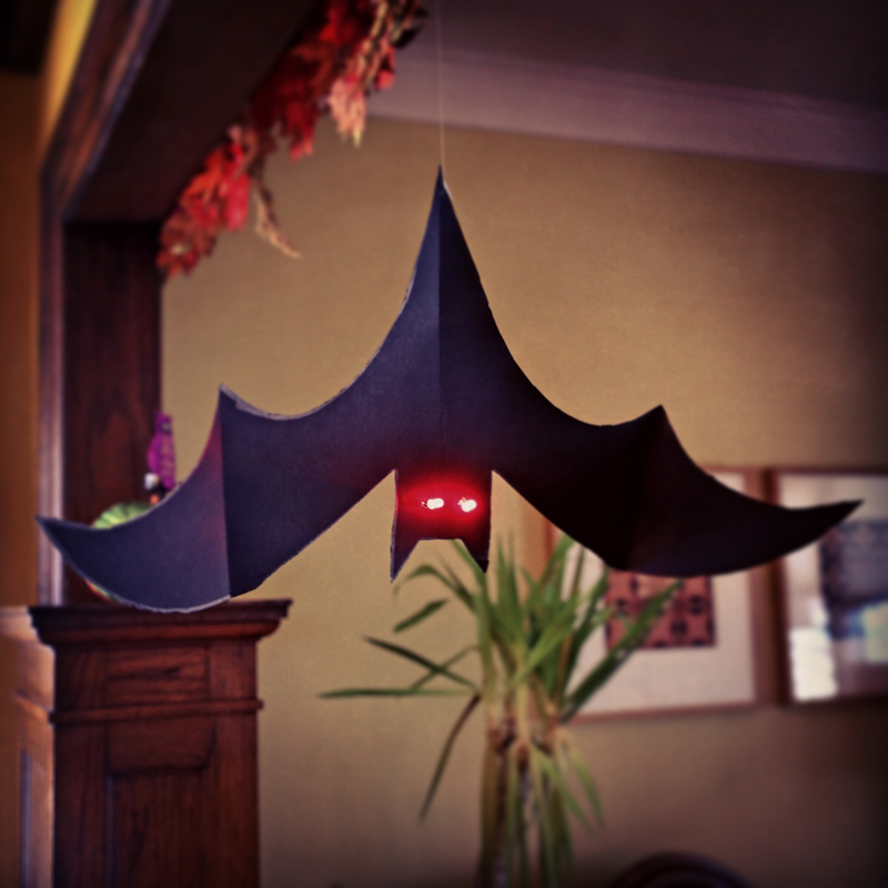 Spooky Eyed LED Bat