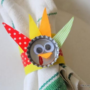 Bottle Cap Turkey Napkin Rings