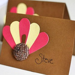 Button Place Cards