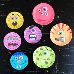 Canning Lid Monsters