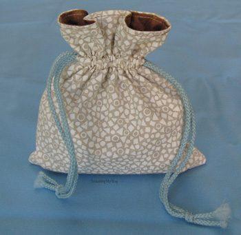 Small Lined Drawstring Bag