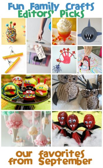 Fun Family Crafts Editors' Picks: September 2013
