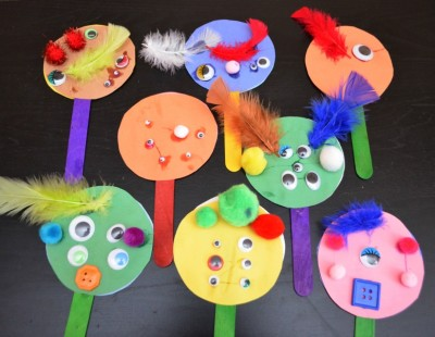 Monster Math Place Value Puppets Fun Family Crafts
