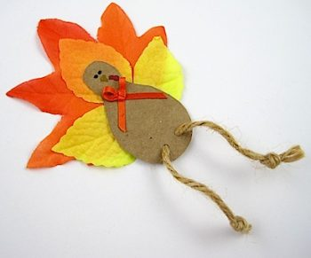 Fall Leaf Turkey Magnet