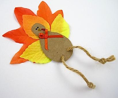 Fall Leaf Turkey Magnet