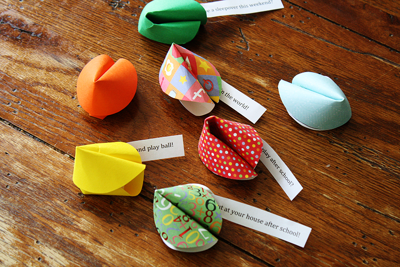 Easy Fortune Cookie Craft