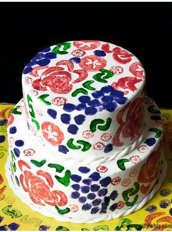 Veggie Stamped Cake