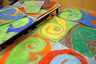Art with Oil Pastels and Watercolors