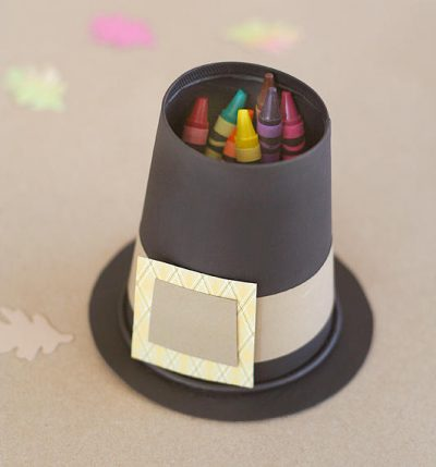 Pilgrim Hat Crayon Holder