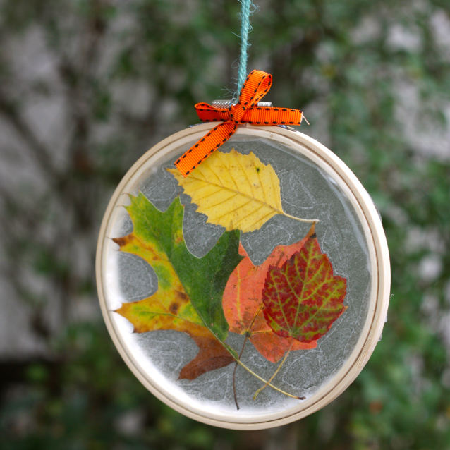 Embroidery Hoop Suncatcher Fun Family Crafts