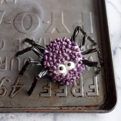 Candy-Coated Marshmallow Spiders