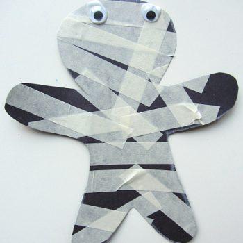 Masking Tape Mummy