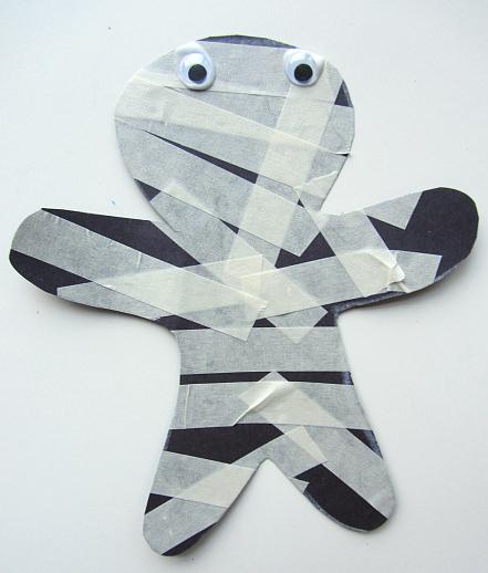 Masking Tape Mummy Fun Family Crafts