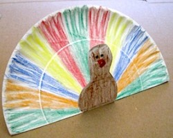 Paper Plate Pop-Up Turkey