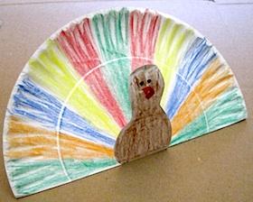 Paper Plate Pop-Up Turkey