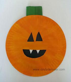 Paper Plate Pumpkin