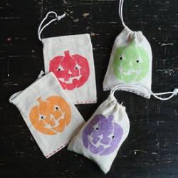 Glitter Jack o'Lantern Treat Bags